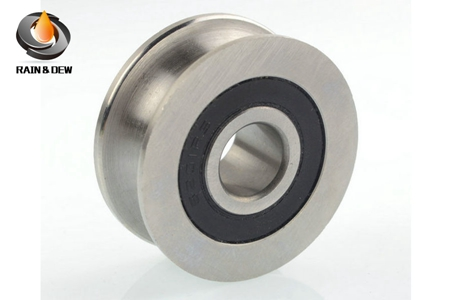 Stainless steel double U groove bearing 5201RS